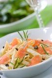 Salmon Pasta royalty free stock image