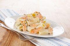 Salmon Pasta. Stock Image