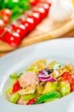 Salmon pasta salad Royalty Free Stock Photos