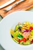 Salmon pasta salad Royalty Free Stock Photo