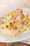 Salmon pasta. Royalty Free Stock Images