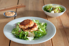 Salmon patties Royalty Free Stock Images