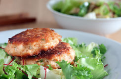 Salmon patties Stock Photo