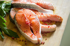 Salmon and pepper Royalty Free Stock Image