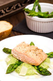 Salmon with pepper Stock Photos