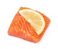 Salmon piece Royalty Free Stock Images