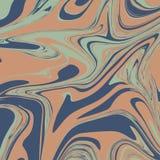 Salmon Pink Liquid Marble Background Photographie stock libre de droits