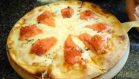 Salmon Pizza images libres de droits