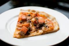 Salmon Pizza fotografia stock