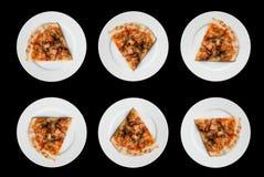 Salmon Pizza Foto de archivo
