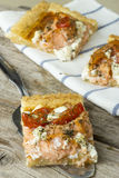 Salmon Pizza Fotografering för Bildbyråer