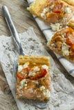 Salmon Pizza arkivbild