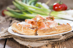 Salmon Pizza Foto de Stock Royalty Free