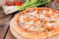 Salmon Pizza Stock Photo