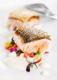 Salmon on the plate Royalty Free Stock Image