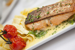 Salmon plate Stock Photography