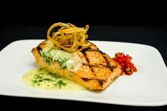 Salmon Plate arrostito Fotografia Stock