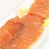 Salmon Platter. A platter of Salmon ready for the eating Stock Photography