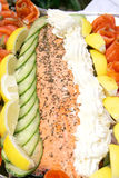 Salmon Platter. Platter of salmon and lemon and pastes Stock Photography