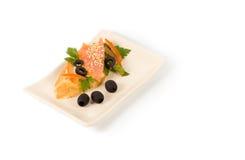 Salmon platter Stock Images