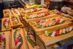 Salmon poke bowl stock photography