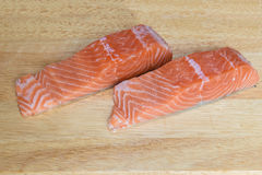 Salmon portions Royalty Free Stock Images