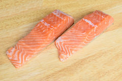 Salmon portions Stock Images