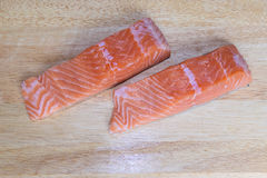 Salmon portions Royalty Free Stock Image