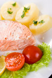 Salmon and potato Royalty Free Stock Photography