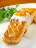 Salmon  with potato Stock Photo
