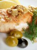 Salmon  with potato Stock Photos