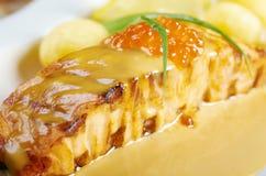 Salmon  with potato . Royalty Free Stock Photo