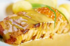 Salmon  with potato . Stock Image