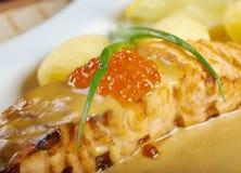 Salmon  with potato . Royalty Free Stock Photos