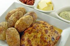 Salmon And Potato Meal cuit au four photographie stock libre de droits