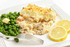 Salmon and potato pie Royalty Free Stock Photography
