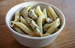 Salmon with potato salad. On the white plate stock photos