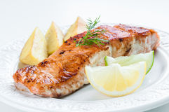 Salmon with Potatoes and Dill Stock Photography