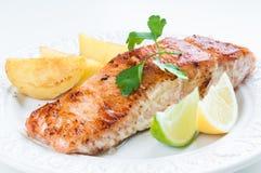 Salmon with Potatoes Royalty Free Stock Photos