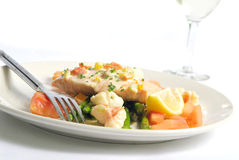 Salmon and Prawns Royalty Free Stock Images