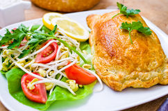 Salmon in puff pastry Stock Photo