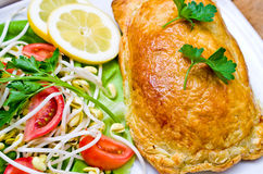 Salmon in puff pastry Royalty Free Stock Image
