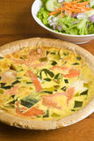 Salmon Quiche Stock Image
