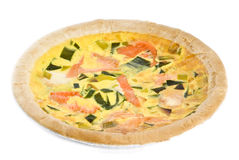 Salmon Quiche Stock Photos