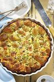 Salmon quiche Royalty Free Stock Photo