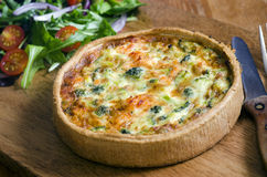 Salmon Quiche Royalty Free Stock Images
