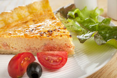 Salmon Quiche and Salad Royalty Free Stock Photo