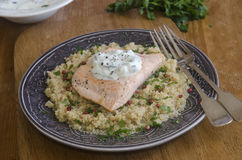 Salmon with quinoa Royalty Free Stock Image