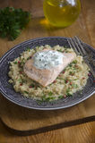 Salmon with quinoa Stock Images