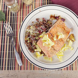 Salmon with  Quinoa Salad Stock Images